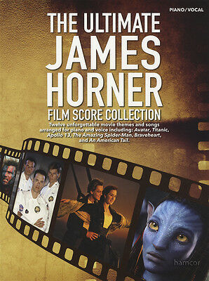 The Ultimate James Horner Film Score Collection Piano Vocal Sheet Music Book