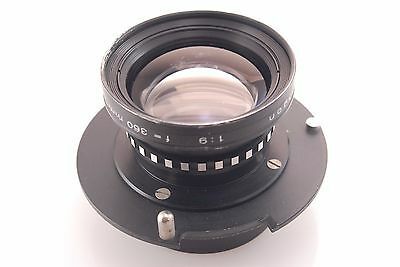 Rodenstock Apo Gerogon 360mm f9 Enlarging Lens 10x8 large Format De-Vere panel