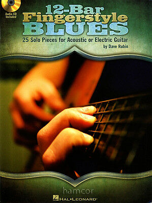 12-Bar Fingerstyle Blues Guitar TAB Book & CD Acoustic or Electric Fingerpicking