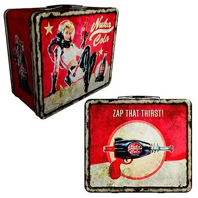 Fallout 4 Nuka Cola Weathered Tin Tote Prop Replica Metal Lunchbox Zap Thirst