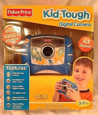 New  Fisher-Price KID TOUGH Compact Digital CAMERA - Blue - 4x zoom SEALED