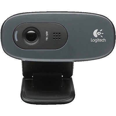 LOGITECH C270, Webcam, Schwarz