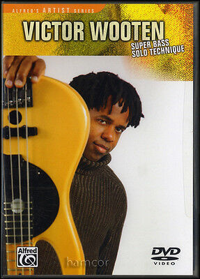 Victor Wooten Super Bass Guitar Solo Technique DVD Slapping Tapping Grooving