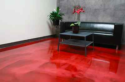 10kg Low Viscosity Ultra Clear Epoxy Resin + 250g Shine Red Metallic Pigment