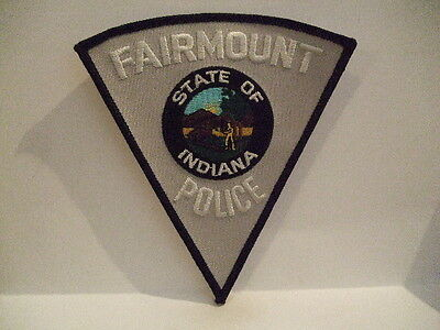 police patch  FAIRMOUNT POLICE INDIANA