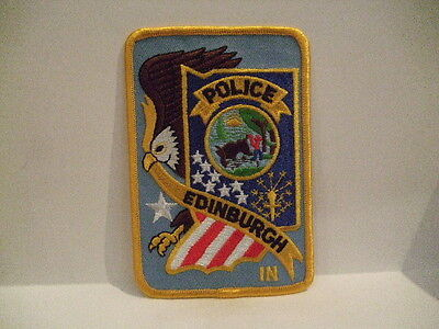 police patch  EDINBURGH POLICE INDIANA