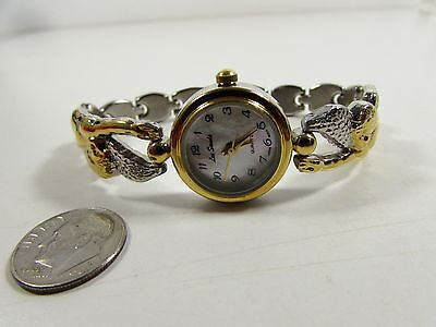 """Lee Sands MOP Watch Face w Floating Angels Contoured Watch Band"""" """"VINTAGE"""""""