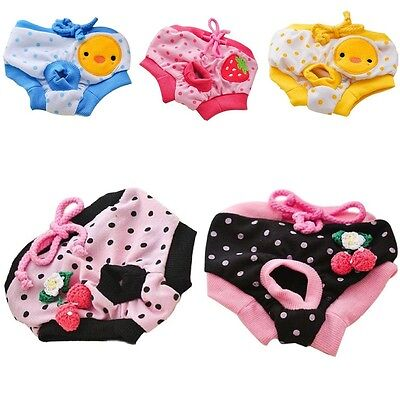 Pet Dog Puppy Underwear Diaper Pants Physiological Sanitary Short Panty