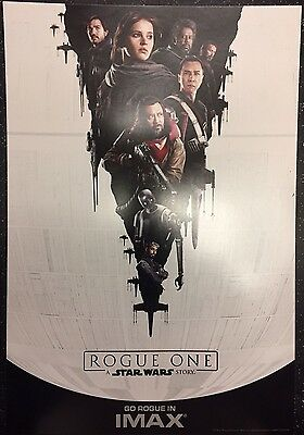 "Rogue One: A Star Wars Story ORIGINAL S/S 13"" x 19"" IMAX Movie Poster Jones Luna"