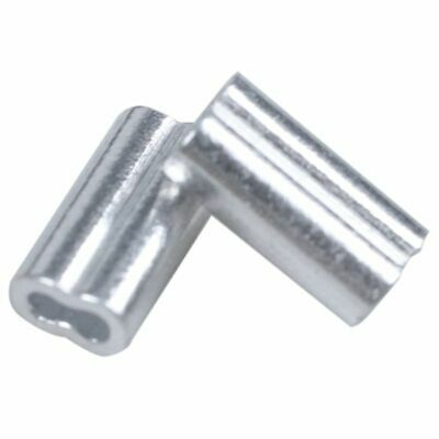 3/64-inch Wire Rope Aluminum Sleeves Clip Fittings Cable Crimps 100pcs CP
