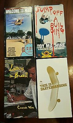 Vintage Skateboarding 4 Video Lot Welcome to Hell  Jump Off a Building This Is