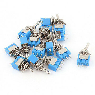 AC 125V 6A SPDT ON-ON 3 Pin Latching Micro Toggle Switch 15 Pcs CP