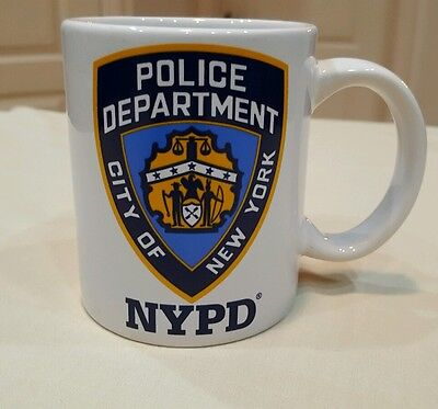NYPD City of New York Police Department Official Ceramic Cop Coffee Cup Mug 2006