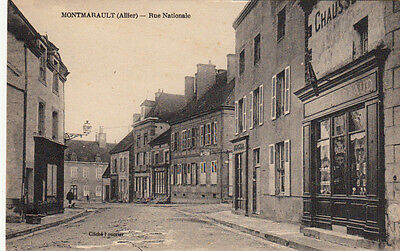 MONTMARAULT rue nationale tabac écrite 1922