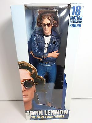 "John Lennon Neca The New York Years 18"" Motion Activated Sound Figure New In Box"