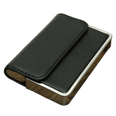 Pro Stainless steel PU Leather Business Name ID Credit Card Holder Pocket CP