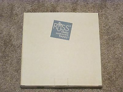 Russ Berrie White Lace and Promises Wedding Porelain 3 Picture Photo Frame NIB