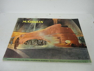 Marklin 1947   main catalog in English with 1948 supplement nice!