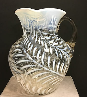 1890's  BEAUMONT OPALESCENT FERN WATER PITCHER