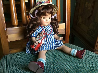 Vintage Composition Doll 13 Inches Tall.