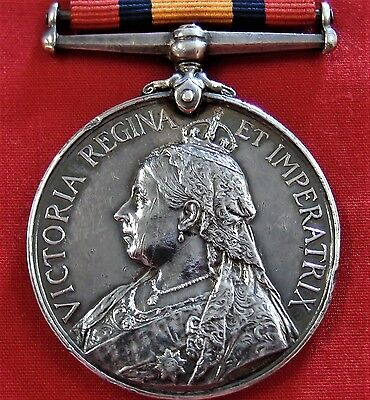 Pre Ww1 British Army Boer War Queens Mediterranean Medal West Yorkshire Militia