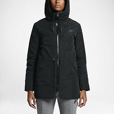 72323dd1f47351 NWT Women's Nike Sportswear NSW Down Fill Parka Black Small 805080 010 $320