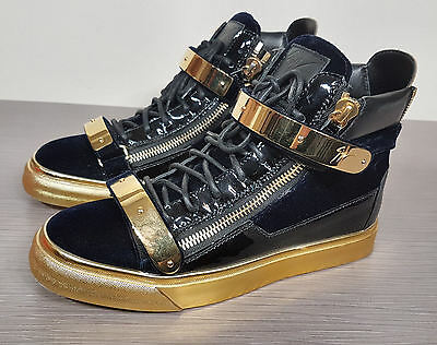 306d0673e299f Giuseppe Zanotti Navy Velvet London High-Top Sneakers Womens size 9.5 / 39.5