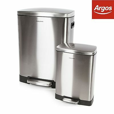 Morphy Richards 50 and 12 Litre Pedal Bin Set -From the Argos Shop on ebay