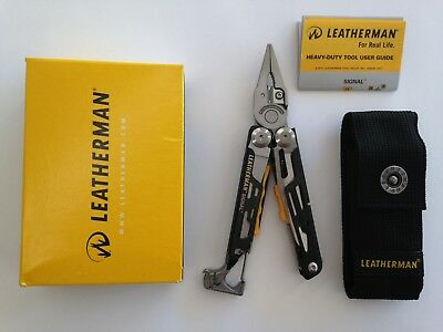 Leatherman Signal Multi Tool Multitool Knife + Nylon Sheath Free Post