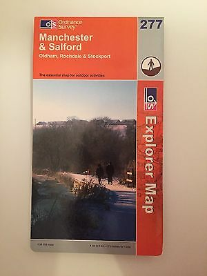 OS Ordnance Survey Explorer 1:25,000 Sheet 277 Manchester & Salford - NEW
