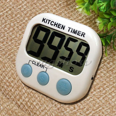 UK Digital Kitchen Cooking Large LCD Timer Count Down Up Clock Alarm Magnetic