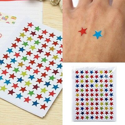 880PCS/10 Sheets Star Shape Stickers Labels For School Children Teacher Reward