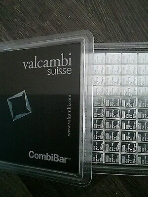 SOLID SILVER BULLION .999 Fine Silver Valcambi 1gram Investment Bar  Fast Post