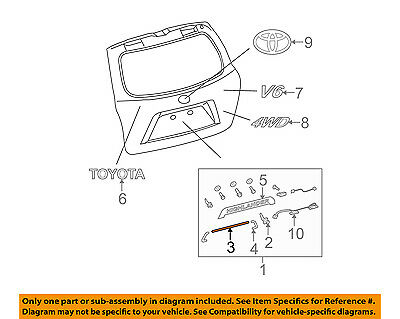 TOYOTA OEM 08-10 Highlander-Lift Gate Trim Protector 768250E040