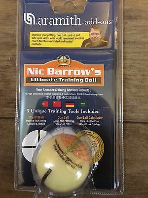 Nic Barrow Ultimate3 training ball -sold by Coutts cues