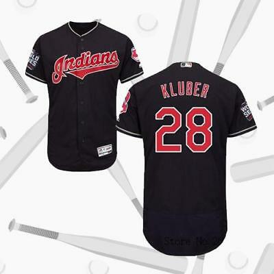 Cleveland Indians #28 Corey Kluber 2016 World Series Bound Flexbase Jersey Navy