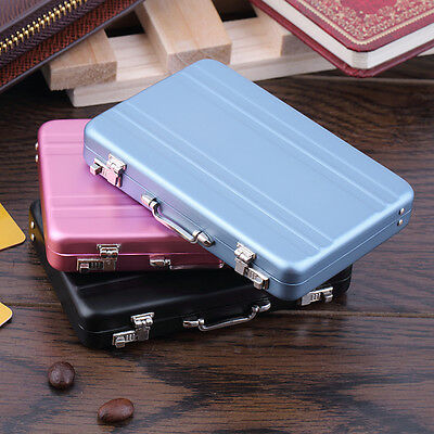 Cool Aluminum Password Briefcase Business Card Credit Card Holder Case Box FE