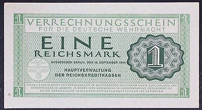 GERMANY (Wehrmacht - German Armed Forces) 1 Reichsmark 1944 - UNC-
