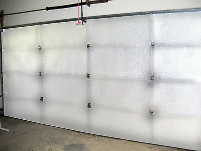 NASATECH White (Pre-cut 16 Panel) 2 Car Garage Door Insulation Foam Kit