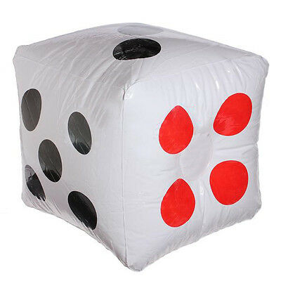 32cm Inflatable Blow Up Cube Dice Casino Poker Party Decor Pool Beach Toy FK