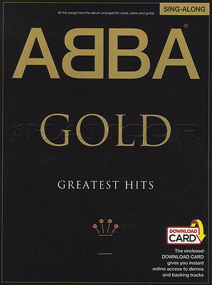 ABBA Gold Greatest Hits Singalong Vocal Sheet Music Book with Audio Sing Along