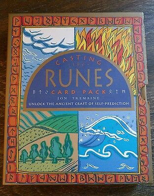 Casting the Runes Card Pack *Jon Tremaine* RARE 1st Edition! COMPLETE Futhark