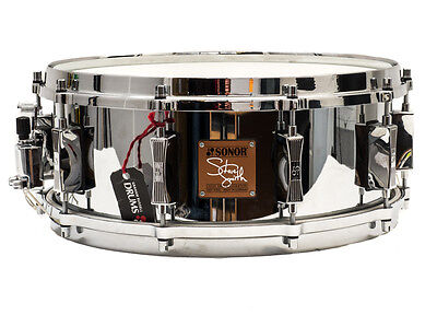 "Sonor 14"" x 5.5"" Steve Smith Cast Steel Snare Drum"