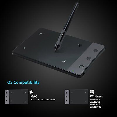 "Huion H420 Art Graphics Drawing Tablet Pad 4"" x 2.23"" for Windows & Mac"