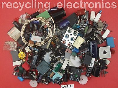 Bag of Vintage Electronic Components Mixed Pack Lot 817