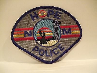 police patch   HOPE POLICE NEW MEXICO