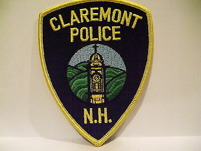 police patch  CLAREMONT  POLICE NEW HAMPSHIRE