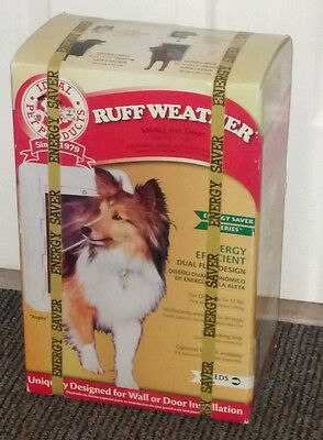 """RUFF WEATHER Small Pet Door or Wall Frame Kit Dual Flap Cat Dog 5"""" x 9.25"""" IDEAL"""