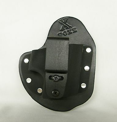 Little FoxX IWB Hybrid Holster (Pick Your Gun) Black Leather Right draw Tuckable