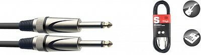 Stagg High Quality Instrument Cable Deluxe Jack To Jack - 1.5M, 3M & 6M Lengths